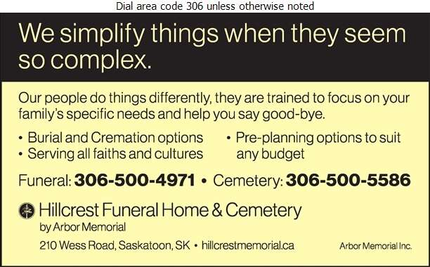 Hillcrest Memorial Gardens & Funeral Home - Funeral Homes & Planning Digital Ad