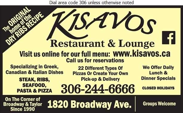 Kisavos Restaurant & Lounge - Restaurants Digital Ad