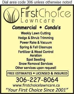 First Choice Lawn Care - Lawn Maintenance Digital Ad