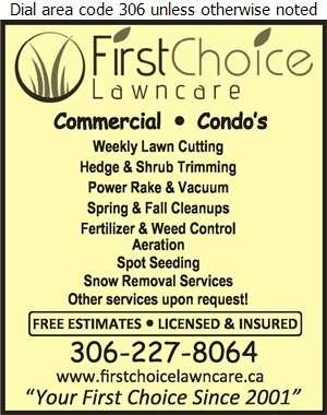 First Choice Lawn Care - Lawn Maintenance Digital Ad