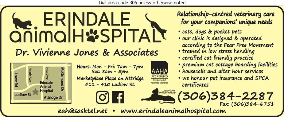 Erindale Animal Hospital - Veterinarians Digital Ad