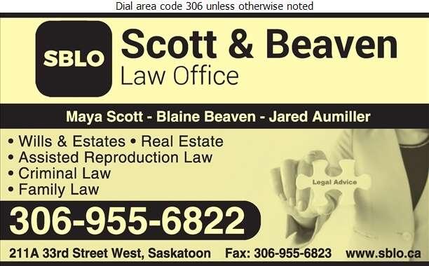 Scott & Beaven Law Office - Lawyers Digital Ad