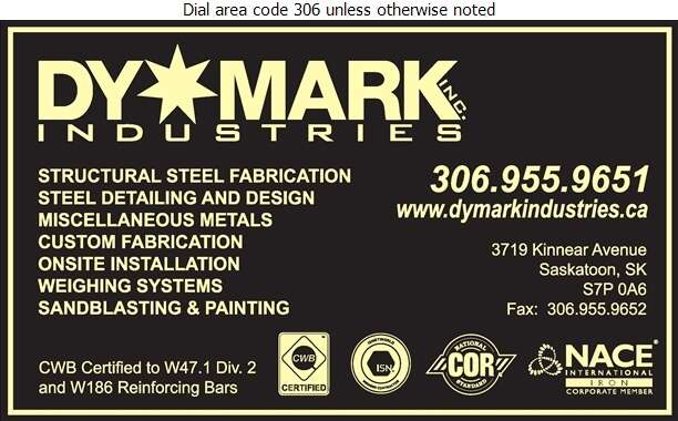 DyMark Industries - Steel Fabricators Digital Ad