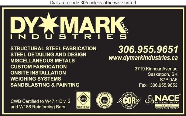 DyMark Industries - Steel Fabricators Digital Ad