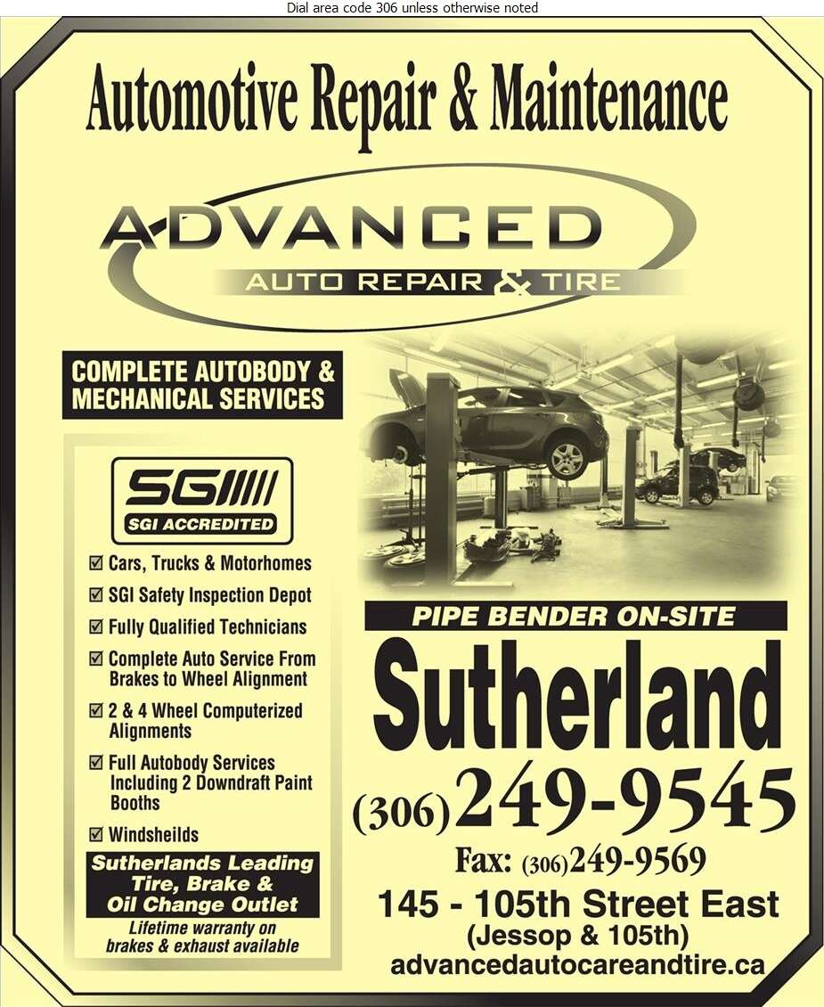 Advanced Auto Care And Tire Ltd - Auto Repairing Digital Ad
