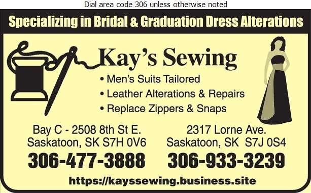 Kay's Sewing - Tailors Ladies' Digital Ad