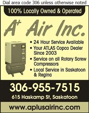 A Plus Air Inc - Compressors Air & Gas Digital Ad