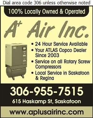 A Plus Air Inc - Compressors Air & Gas Digital Ad