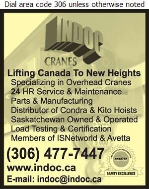 Indoc Crane Canada Ltd - Cranes Digital Ad
