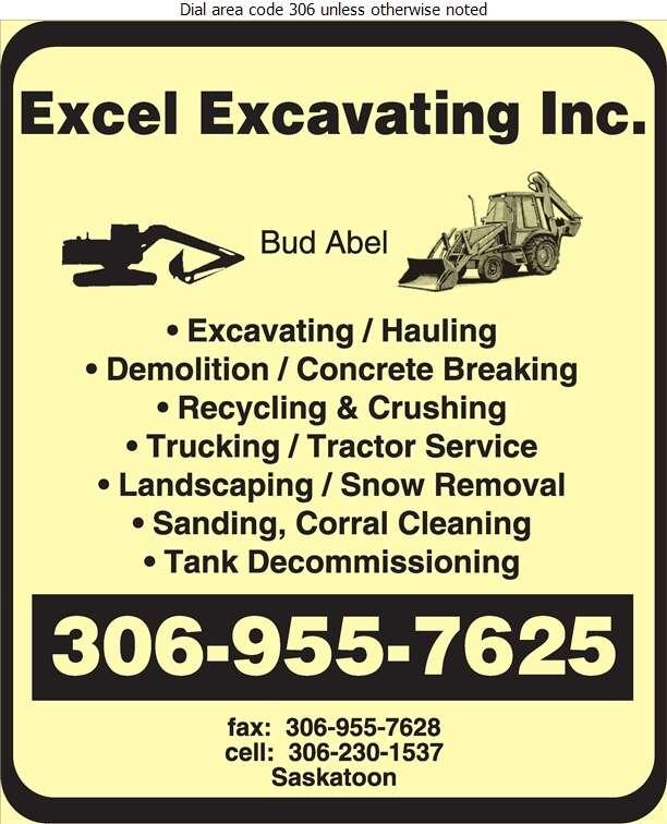 Excel Excavating Inc - Excavating Contractors Digital Ad