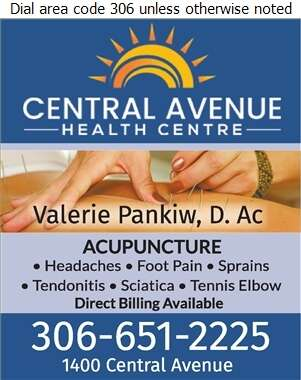 Central Avenue Health Centre - Acupuncture Digital Ad