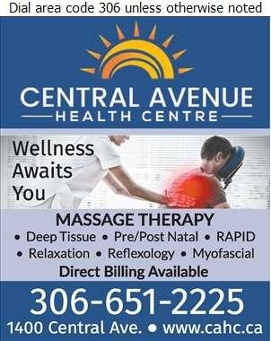 Central Avenue Health Centre - Massage Therapists Digital Ad