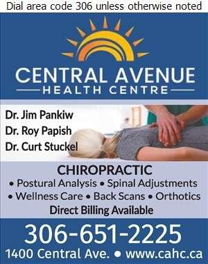 Central Avenue Health Centre - Chiropractors Digital Ad