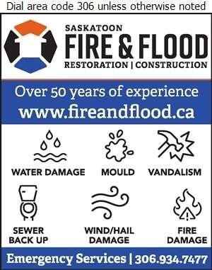 Saskatoon Fire & Flood Ltd - Fire Damage Restoration Digital Ad