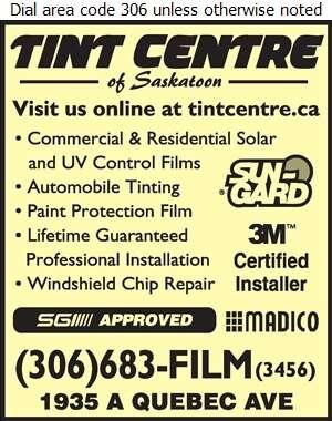 Tint Centre Of Saskatoon - Window Tinting Digital Ad