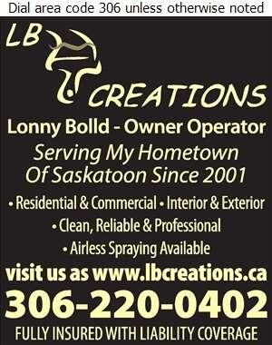 L B Creations - Painting Contractors Digital Ad