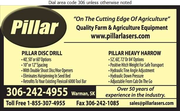 Pillar Laser - Agricultural Implements Sales, Service & Parts Digital Ad