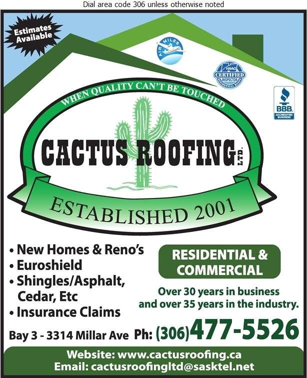 Cactus Roofing Ltd - Roofing Contractors Digital Ad