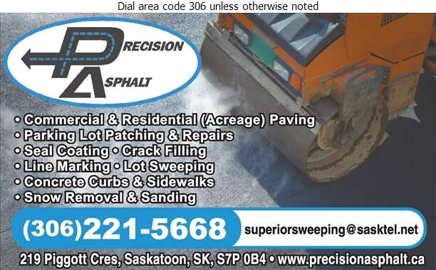 Precision Asphalt - Paving Contractors Digital Ad