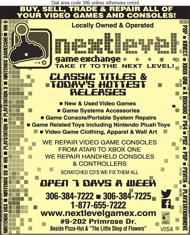 Next Level Game Exchange - Video Games Retail Digital Ad
