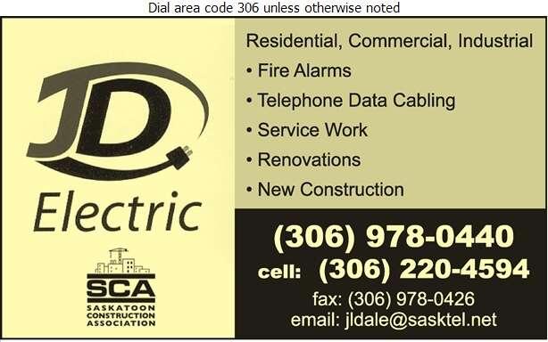 JD Electric Ltd - Electric Contractors Digital Ad
