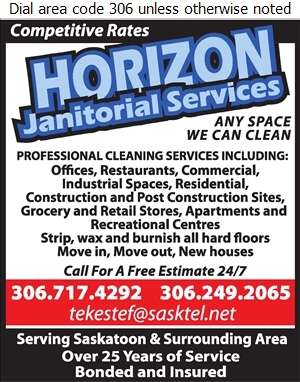 Horizon Janitorial Services - Janitor Service Digital Ad