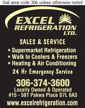 Excel Refrigeration Ltd - Refrigeration Contractors Digital Ad