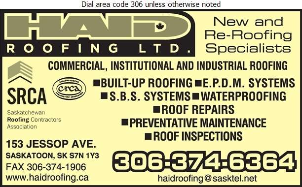 Haid Roofing Ltd - Roofing Contractors Digital Ad