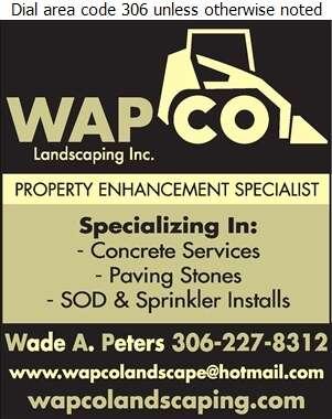 Wapco Landscaping Inc - Landscape Contractors & Designers Digital Ad