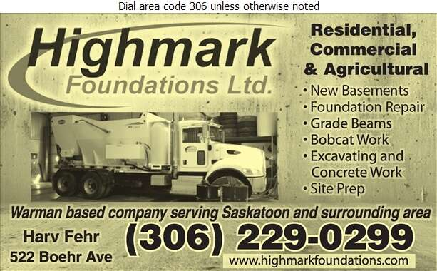 Highmark Foundations Ltd - Concrete Contractors Digital Ad