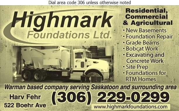 Highmark Foundations Ltd - Concrete Contractors Digital Ad