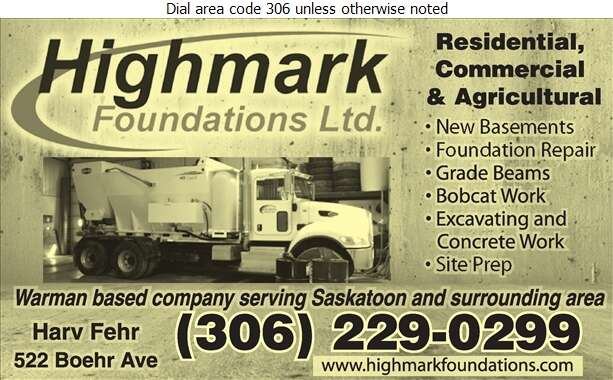 Highmark Foundations Ltd - Basement Contractors Digital Ad