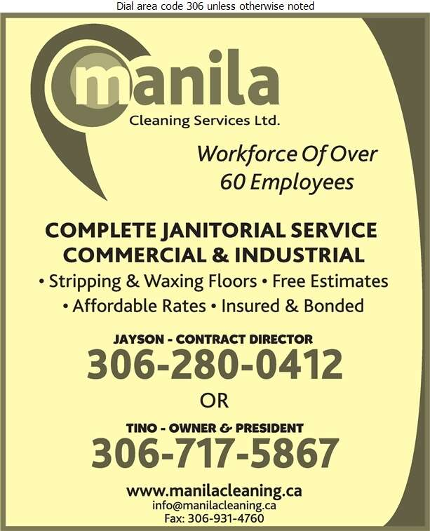 Manila Cleaning Services Ltd (Fax) - Janitor Service Digital Ad