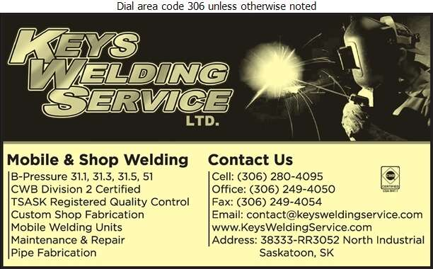 Keys Welding Services (Shop) - Welding Digital Ad