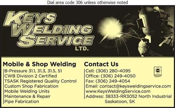 Keys Welding Services - Welding Digital Ad