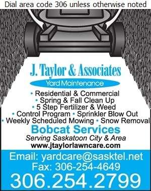 J Taylor & Associates - Lawn Maintenance Digital Ad