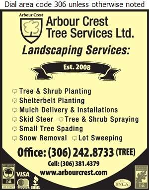 Arbour Crest Tree Services Ltd - Landscape Contractors & Designers Digital Ad