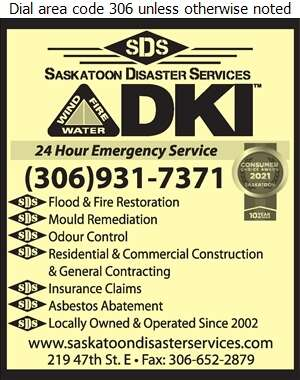 Saskatoon Disaster Services - Asbestos Removal Supplies & Services Digital Ad
