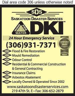Saskatoon Disaster Services - Flood Damage Restoration & Floodproofing Digital Ad