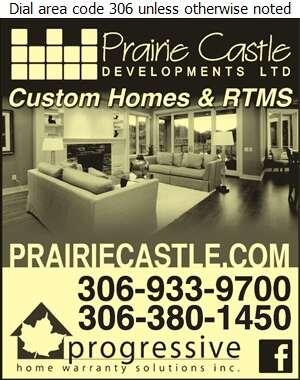 Prairie Castle Developments - Builders & Contractors Digital Ad