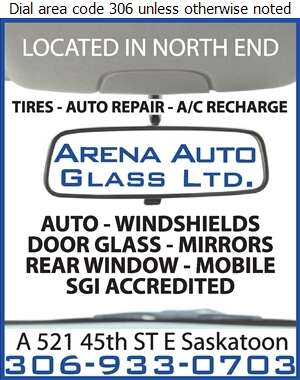 Arena Auto Glass Ltd - Glass Auto, Float, Plate, Window Etc Digital Ad