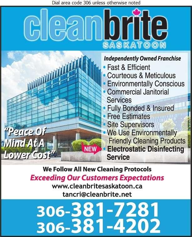 Clean Brite Saskatoon - Janitor Service Digital Ad