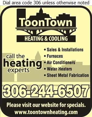 Toontown Heating & Cooling - Heating Contractors Digital Ad