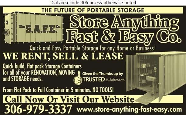 Store Anything Fast & Easy Company The - Storage- Household & Commercial Digital Ad