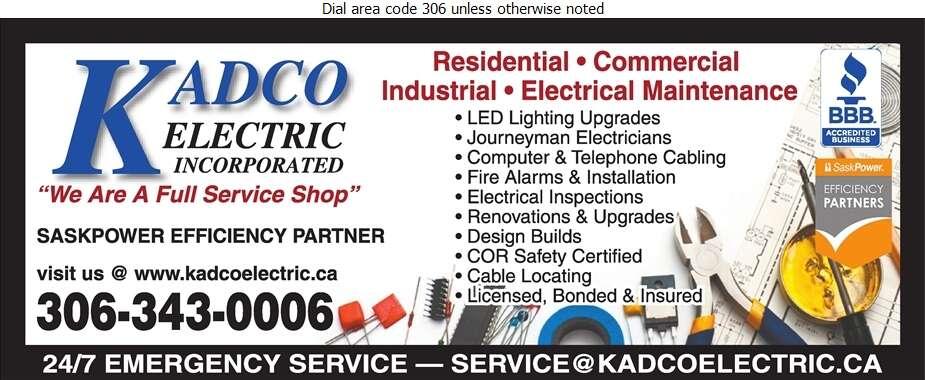 Kadco Electric Inc - Electric Contractors Digital Ad