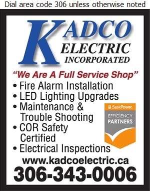 Kadco Electric Inc - Fire Prevention & Protection Equipment Digital Ad