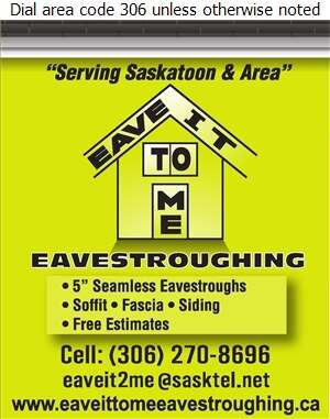 Eave It To Me Eavestroughing - Eavestroughing Digital Ad