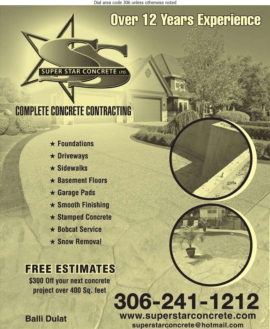 Super Star Concrete Ltd - Concrete Contractors Digital Ad