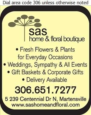 SAS Home & Floral Boutique - Florists Retail Digital Ad