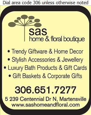 SAS Home & Floral Boutique - Home & Garden Decor Digital Ad
